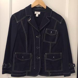 Ann Taylor Loft cotton stretch jacket size 10